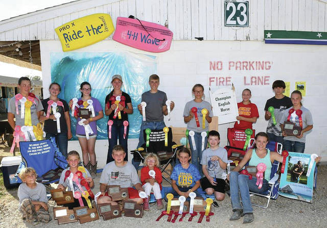 Sunbury Halter and Saddle 4-H Club winners at the 2016 Delaware County Fair.
