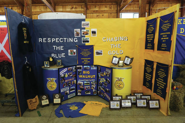 The Big Walnut-Delaware Area Career Center chapter of the Future Farmers of America has a display up at the Delaware County Fair.