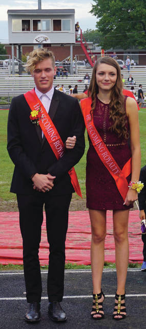 Seniors Jacob Troyer and Tori Buxton were introduced together as part of the 2017 Big Walnut High School Homecoming Court on Oct. 6. Moments later, they were named King and Queen. The week-long celebration was a success, including a homecoming football victory.