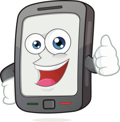 Smartphone giving thumb up