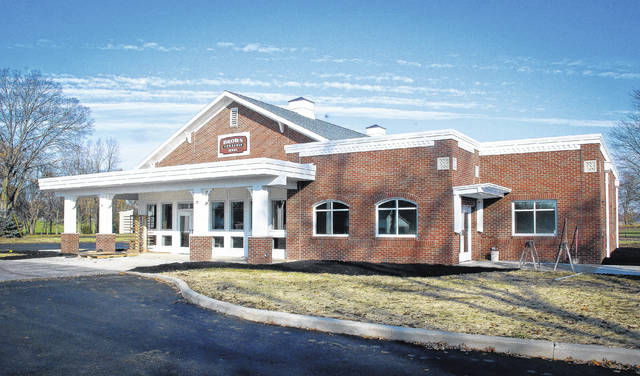 The trustees of Brown Township dedicated the new township hall Sunday, Nov. 12 with a ribbon-cutting ceremony. Construction of the hall was made possible by a $1.1 million gift from the Charles and Betty Sheets Fund of the Delaware County Foundation.