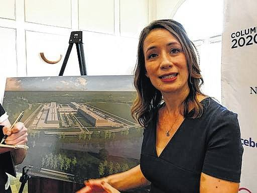 Rachel Peterson, director of data center strategy and development for Facebook, discusses the social media giant's decision to build a $750 million data center in New Albany.