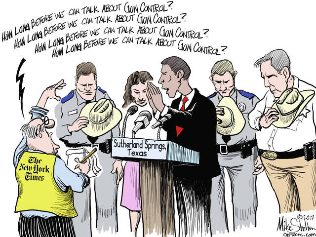 Texas officials end a presser with a prayer, officers removing their hats while NY Times runs a clock on its web page asking how long must they wait to debate gun control. The Old Gray lady must've been a hooker in her younger days