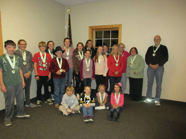 Sunbury Halter and Saddle 4-H Medal Winners pose for a photo.