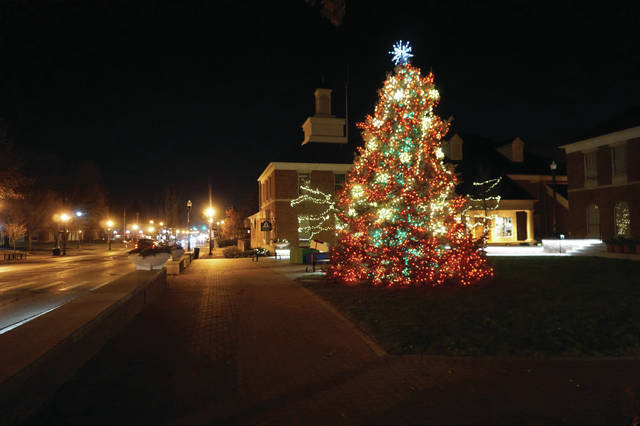A recent photo shows the City of Westerville's Christmas tree at the newly-renovated and expanded City Hall.