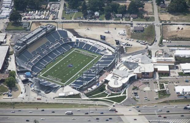 Tom Benson Stadium in Canton, where the OHSAA football championships were held last weekend.