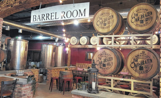 The Barrel Room inside The Oak & Brazen Wine Company, which offers a up-close view of the wine production room, can be rented any day of the week for parties, bridal showers, company outings, etc.