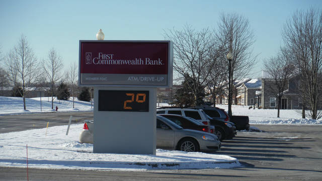 The thermometer at First Commonwealth Bank in Sunbury on the morning of Jan. 2 shows the village is still in the grips of a cold spell. According to the National Weather Service, the area may get above freezing next week, on Monday, Jan. 8.