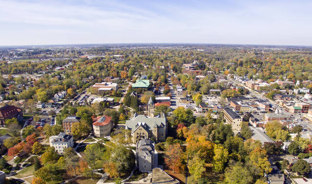 Ohio Wesleyan University, Delaware County, and the City of Delaware are collaborating to create The Delaware Entrepreneurial Center on the OWU campus. The center is expected to open in August. (Photo by Brian Rellinger)