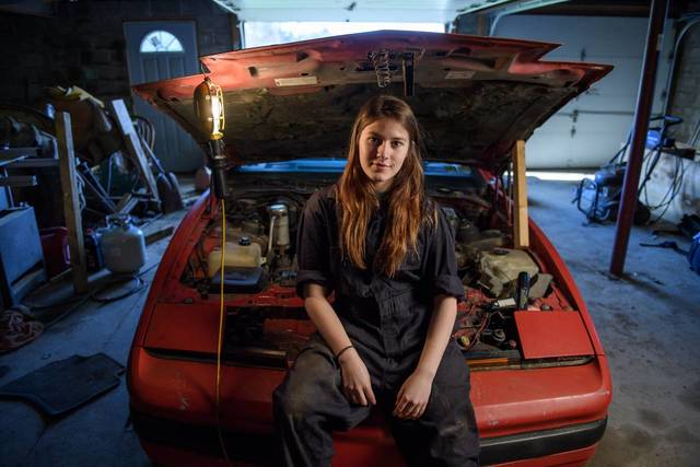 Raelee Nicholson, a high-school junior and National Honor Society member, is rebuilding a 1987 Pontiac TransAm in the garage of her home south of Pittsburgh. Her mother, Beth, wasn't as surprised as many of her friends when Raelee decided she wanted to enroll in a vocational-technical school to learn diesel mechanics after high school.