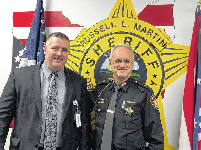 Chief Deputy Jon Scowden, left, poses with Delaware County Sheriff Russell Martin. Scowden, a Delaware native, is the department's newest chief deputy.