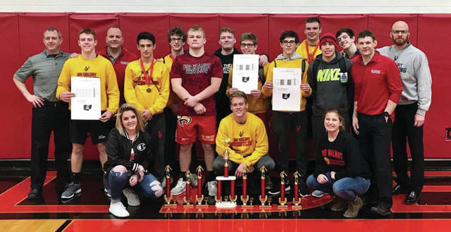 Big Walnut wrestlers show some hardware as part of a successful season.