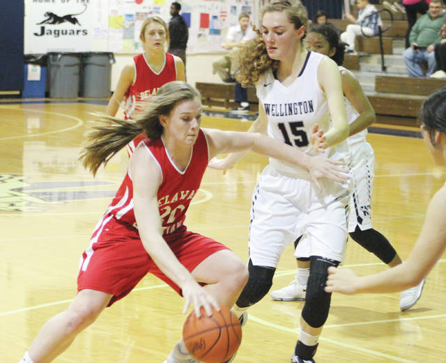 Delaware Christian's Lyssi Snouffer, left, averaged 24.4 points, 18.8 rebounds and 3.2 steals per game this season — numbers good enough to earn her All-Delaware County girls basketball Player of the Year honors.