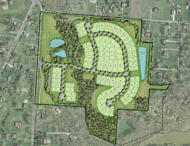 The revised plan for the Ravines at Hoover.