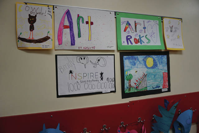 Student artists filled the hallways and classrooms of Big Walnut Elementary with their artwork on April 5.