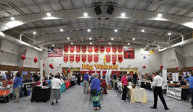A wide-angle view of the Big Walnut High School gym during the Expo.
