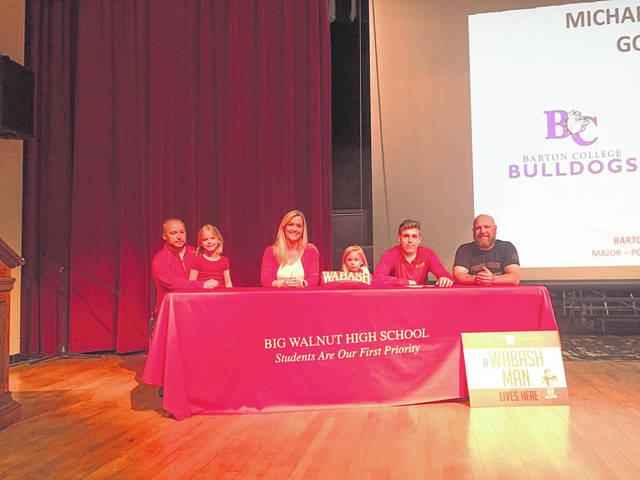 Bailey Munday signs with Wabash on May 8.