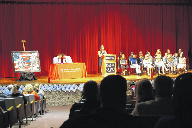 The Law Enforcement Night of Appreciation event gets underway at the Big Walnut High School auditorium on May 3.