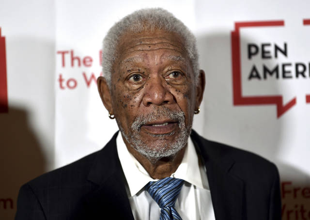 "FILE - In this May 22, 2018 file photo, actor Morgan Freeman attends the 2018 PEN Literary Gala in New York. Freeman is apologizing to anyone who may have felt ""uncomfortable or disrespected"" by his behavior. His remarks come after CNN reported that multiple women have accused him of sexual harassment and inappropriate behavior on movie sets and in other professional settings. (Photo by Evan Agostini/Invision/AP, File)"
