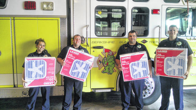 The BST&G fire station in Sunbury is among drop-off sites for fan donations.
