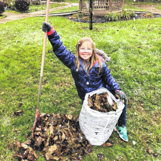 Addie Miller volunteered for National Make a Difference Day.