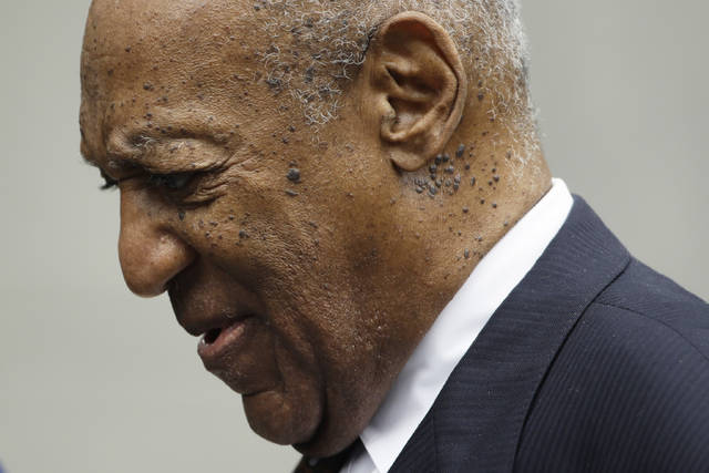 "Bill Cosby departs from a sentencing hearing at the Montgomery County Courthouse, Monday, Sept. 24, 2018, in Norristown Pa. Cosby's chief accuser on Monday asked for ""justice as the court sees fit"" as the 81-year-old comedian faced sentencing on sexual assault charges that could make him the first celebrity of the #MeToo era to go to prison. (AP Photo/Matt Slocum)"