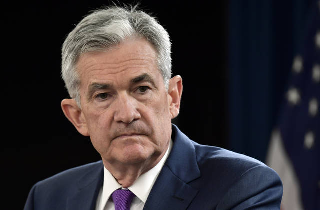 Federal Reserve Chairman Jerome Powell listens to a question during a news conference in Washington, Wednesday, Sept. 26, 2018. The Federal Reserve has raised a key interest rate for the third time this year in response to a strong U.S. economy and signaled that it expects to maintain a pace of gradual rate hikes. (AP Photo/Susan Walsh)