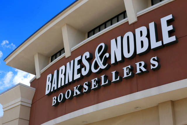 FILE - This Monday, Aug. 31, 2017, file photo shows a Barnes & Noble Booksellers store in Pittsburgh. The board of Barnes & Noble said Wednesday, Oct. 3, 2018, it is reviewing the company's future after several parties expressed interest in buying it. (AP Photo/Gene J. Puskar, File)