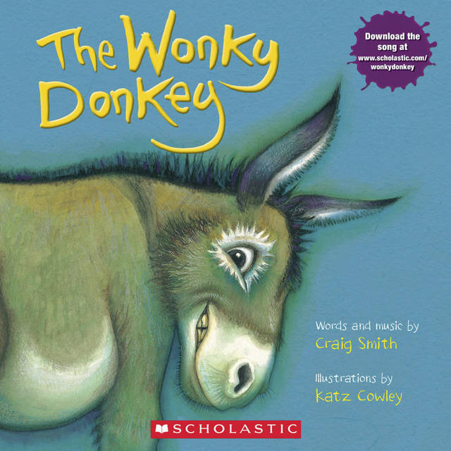 """This cover image released by Scholastic shows """"The Wonky Donkey"""" by Craig Smith and illustrated by Katz Cowly. The 2009 picture story has been out-selling Bob Woodward's """"Fear"""" and Rachel Hollis' """"Girl, Wash Your Face"""" among others, thanks to a viral video of Scottish grandmother Janice Clark reading Craig Smith's """"The Wonky Donkey"""" to her grandson. (Scholastic via AP)"""