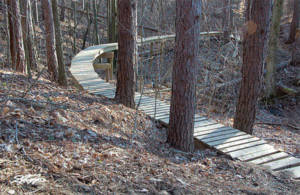 A trail at Alum Creek State Park.