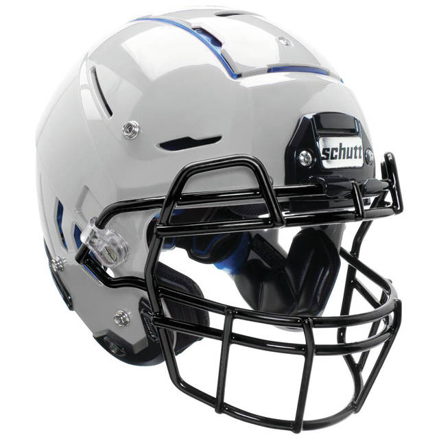 An example of a youth football helmet.