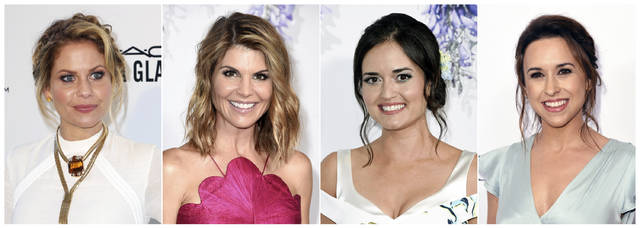"This combination photo shows actresses, from left, Candace Cameron Bure, Lori Loughlin , Danica McKellar and Lacey Chabert who are all recurring stars of Hallmark holiday movies. Hallmark's ""Countdown to Christmas"" TV movies are so popular, they have an App and sell merchandise like wine glasses and t-shirts. (AP Photo)"
