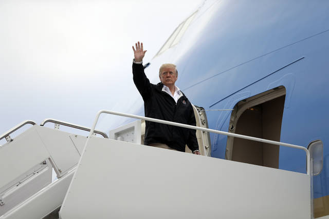 In this Nov. 17, 2018, photo, resident Donald Trump boards Air Force One for a trip to visit areas impacted by the California wildfires at Andrews Air Force Base, Md. Marathon days. Red-eye flights. Jam-packed agendas. As Trump departs Thursday, Nov. 29 to attend the G20 summit, he will be making the most of a scaled-back international schedule.(AP Photo/Evan Vucci, File)