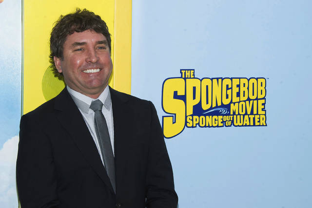 "FILE - In this Jan. 31, 2015 file photo, SpongeBob SquarePants creator Stephen Hillenburg attends the world premiere of ""The SpongeBob Movie: Sponge Out Of Water"" in New York. Hillenburg died Monday, Nov. 26, 2018 of ALS.  He was 57. (Photo by Charles Sykes/Invision/AP, File)"