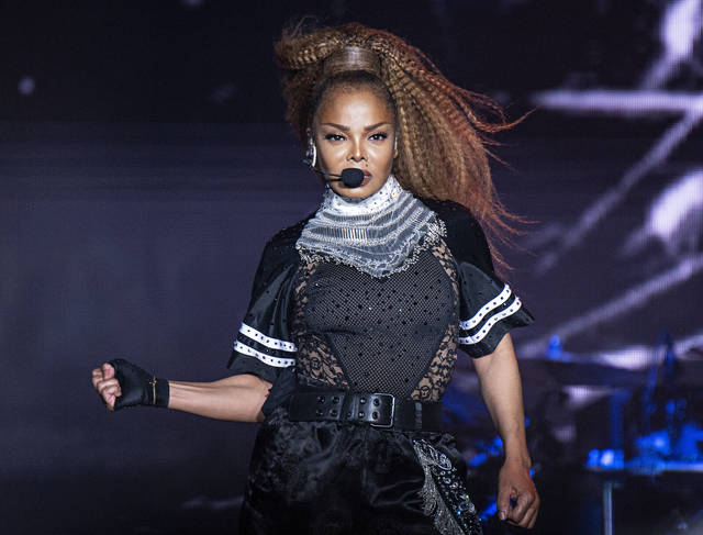 FILE - In this July 8, 2018 file photo, Janet Jackson performs at the 2018 Essence Festival in New Orleans. Jackson will join Def Leppard, Stevie Nicks, Radiohead, the Cure, Roxy Music and the Zombies as new members of the Rock and Roll Hall of Fame. The 34th induction ceremony will take place on March 29 at Barclays Center in New York.  (Photo by Amy Harris/Invision/AP)