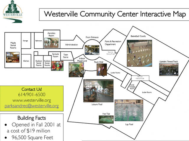 This is the current configuration of the Westerville Community Center.