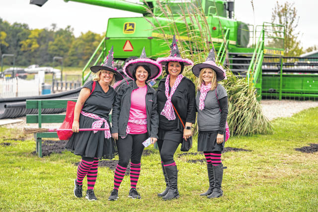 Pictured are some of the women who participated in the Pink Ribbon Girls' Witches Night Out at Leeds Farm in Ostrander.