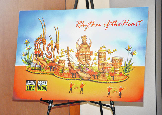 "Titled ""Rhythm of the Heart,"" the Donate Life float featuring Adam Wasielewski's floragraph will be unveiled during the Jan. 1, 2019 Tournament of Roses Parade in Pasadena, California."