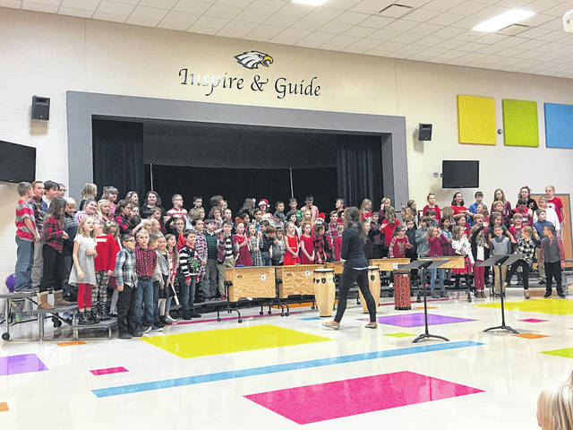 Students at General Rosecrans Elementary perform a holiday concert.