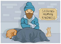 homeless person clipart