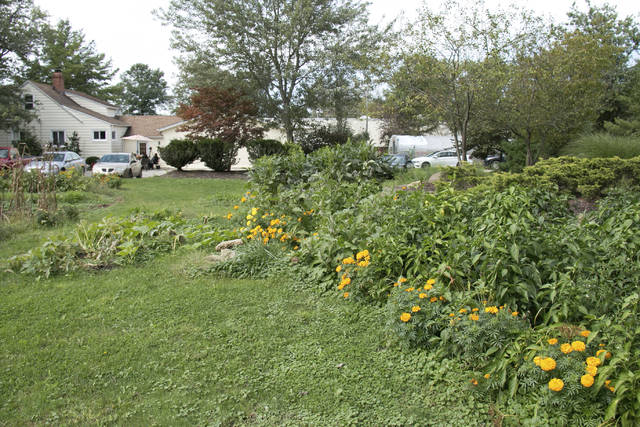 This undated photo shows a garden at the Woodrow Project recovery house and farm in North Royalton, Ohio. The North Royalton recovery house and farm started in February as a way to provide stability and training to women in recovery, Woodrow Project executive director Erin Helms said. (David Petkiewicz/The Plain Dealer via AP)