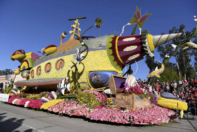 The Western Asset Management Company float wins the Fantasy Award at the 130th Rose Parade in Pasadena, Calif., Tuesday, Jan. 1, 2019. (AP Photo/Michael Owen Baker)