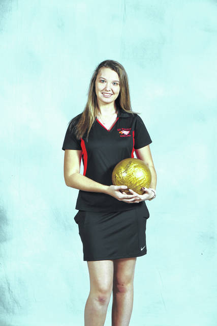 Anna Tanner is a senior on the bowling team.