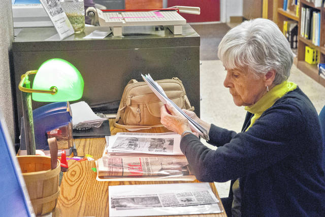 Once a librarian at Willis Intermediate School in Delaware, Shirley Newell now volunteers at the Delaware County Historical Society's Research Library, which is located in the Cryder Historical Center at 157 E. William St. Newell said she does a little of everything, but some of her fellow volunteers said she's the local expert on the history of the Delaware County sewer system. On Wednesday (Jan. 9), Newell was working on filing clippings into chronological order from The Sunbury News. Newell said she likes working at the Research Library, because she learns something new every day about Delaware County.
