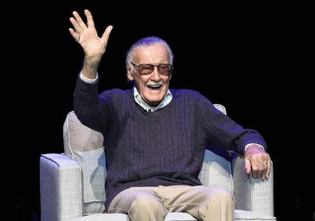 "FILE - In this Aug. 22, 2017 file photo, comic book writer Stan Lee waves to the audience after being introduced onstage at the ""Extraordinary: Stan Lee"" tribute event at the Saban Theatre in Beverly Hills, Calif. For comics lovers, Lee was as much a superhero as the characters he helped create. Those fans, along with Lee's friends and colleagues, will get to pay their final respects at a Hollywood memorial Wednesday, Jan. 30, 2019, for the Marvel Comics mastermind who helped bring the world Spider-Man, Black Panther and The Incredible Hulk. (Photo by Chris Pizzello/Invision/AP, File)"