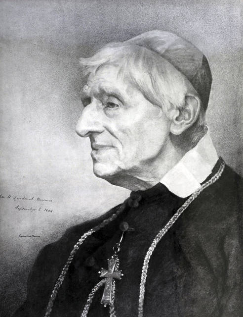 This undated photo provided Wednesday, Feb. 13, 2019 by the Catholic Trust for England and Wales shows a portrait of Cardinal John Henry Newman. The Vatican announced Wednesday, Feb. 13, 2019 that Pope Francis has approved a miracle needed to make Cardinal John Henry Newman, an Anglican convert, a saint. (Mazur/www.catholicnews.org.uk via AP)