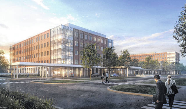Pictured is a rendering of The Ohio State University Wexner Medical Center's proposed ambulatory care facility that would be located on Sawmill Parkway, directly across for Olentangy Liberty High School.
