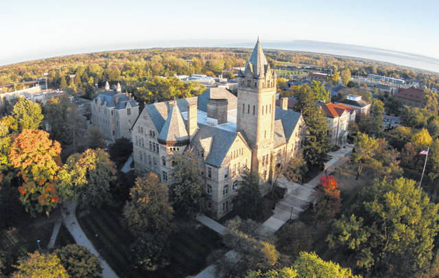 Aerial view of OWU.