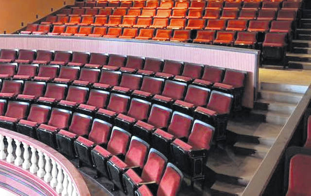 New seats were installed in the balcony of the Woodward Opera House in Mount Vernon.