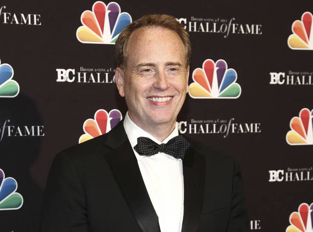 FILE - In this Oct. 16, 2017 file photo, Robert Greenblatt poses in the press room at the Broadcasting & Cable Hall of Fame Awards 27th Anniversary Gala in New York. WarnerMedia is hiring former NBC Entertainment chairman Robert Greenblatt as chairman of its entertainment and direct-to-consumer divisions in a reorganization (Photo by Andy Kropa/Invision/AP, File)